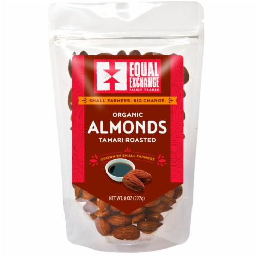 Equal Exchange Organic Tamari Roasted Almonds Perspective: front