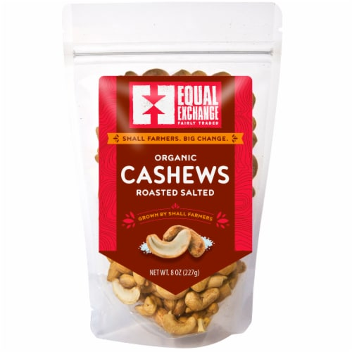 Equal Exchange Organic Roasted Salted Cashews Perspective: front