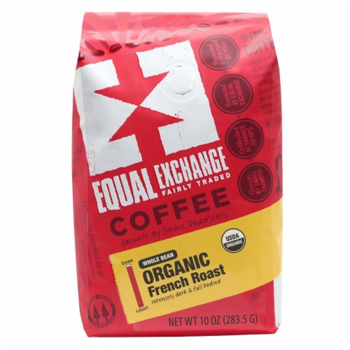 Equal Exchange Organic French Roast Whole Bean Coffee Perspective: front