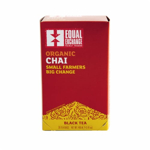 Equal Exchange Chai Black Tea Bags 20 Count Perspective: front