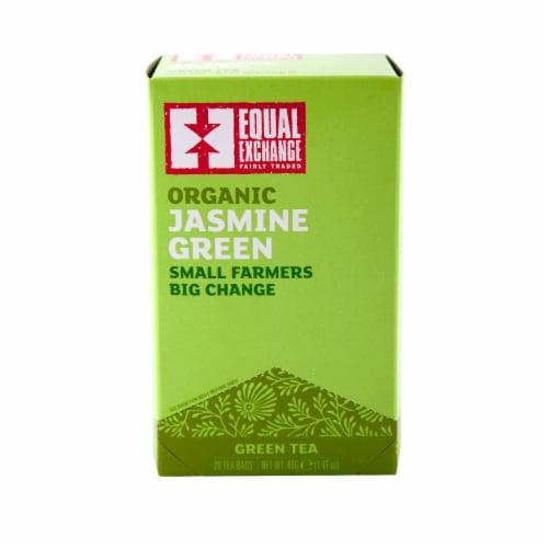 Equal Exchange Organic Jasmine Green Tea Bags 20 Count Perspective: front