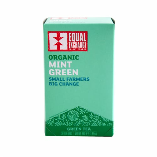 Equal Exchange Organic Mint Green Tea Perspective: front