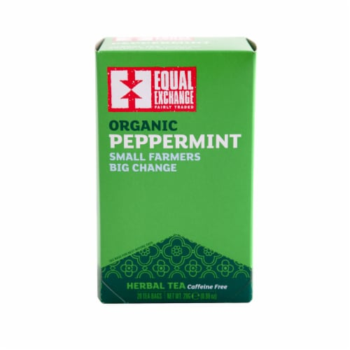 Equal Exchange Organic Peppermint Herbal Tea Bags Perspective: front
