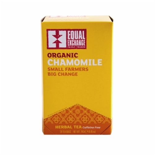 Equal Exchange Organic Chamomile Herbal Tea Bags Perspective: front