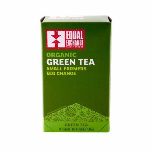 Equal Exchange Organic Green Tea Bags 20 Count Perspective: front