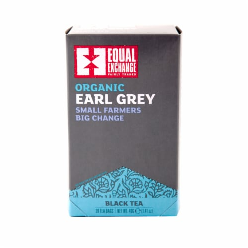 Equal Exchange Earl Grey Black Tea Bags 20 Count Perspective: front
