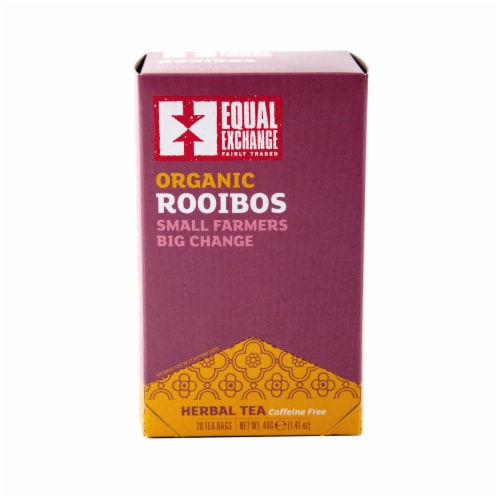 Equal Exchange Organic Rooibos Herbal Tea Bags 20 Count Perspective: front