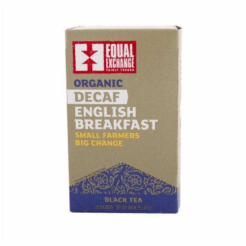 Equal Exchange Organic Decaf English Breakfast Tea Perspective: front