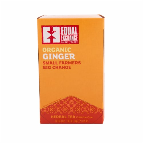 Equal Exchange Organic Ginger Tea Perspective: front