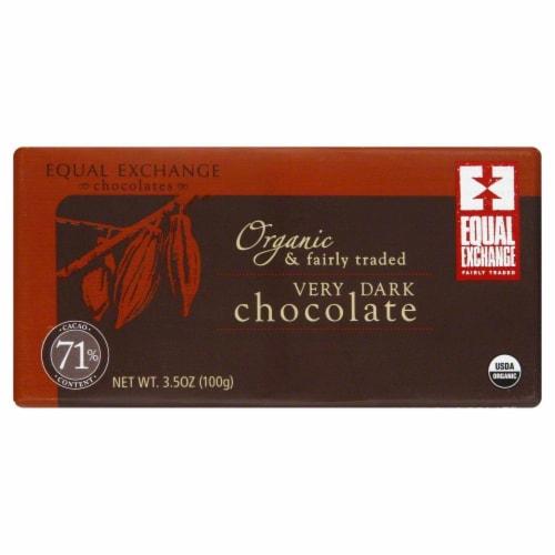 Equal Exchange Very Dark Chocolate Perspective: front