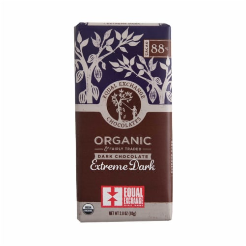 Equal Exchange Organic 88% Cacao Extreme Dark Chocolate Bar Perspective: front