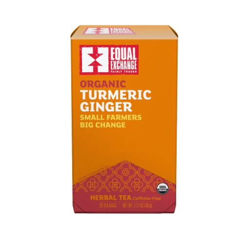 Equal Exchange Organic Turmeric Ginger Tea Perspective: front