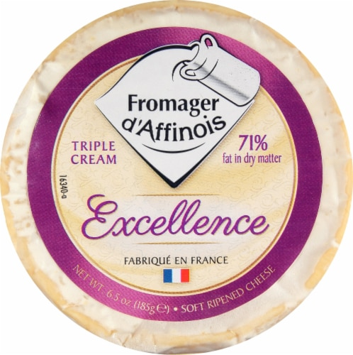 Fromager d' Affinois Triple Cream Excellence Soft Ripened Cheese Perspective: front