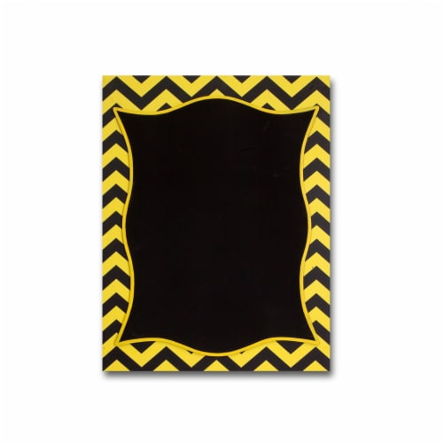 Chevron Chalkboard (Set of 2) 15.5 Wx20 H MDF Perspective: front