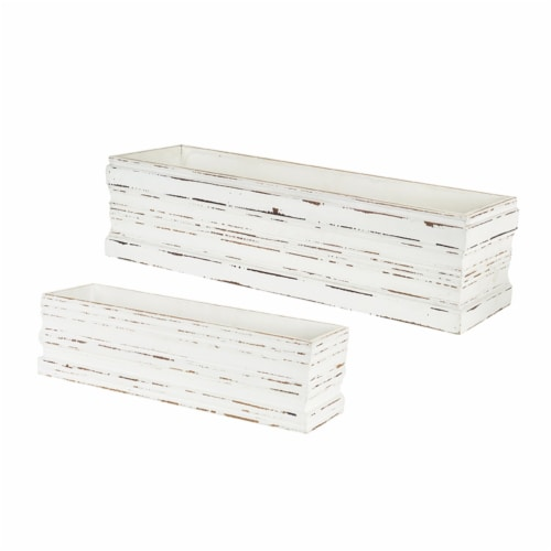 Melrose International 72529DS 6 x 18.5-7.5 x 24.75 in. Box, MDF - Set of 2 Perspective: front