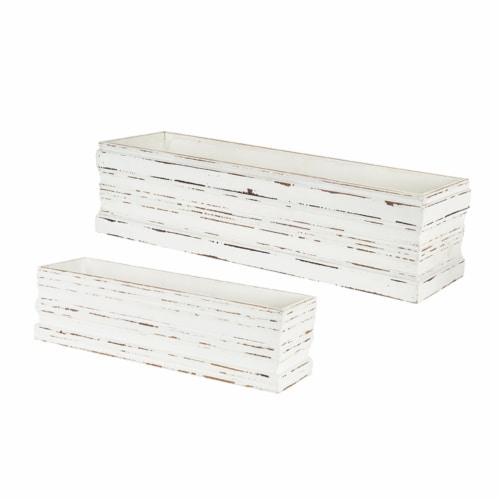 Box (Set of 2) 18.5 L x 6 H, 24.75 L x 7.5 H MDF Perspective: front