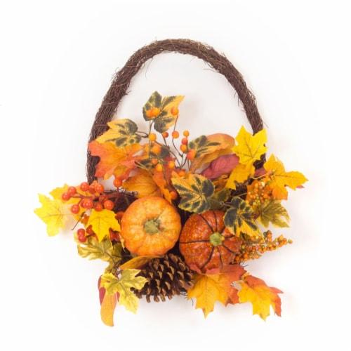 Pumpkin/Gourd/Fall Leaf Basket (Set of 2) 16 L x 17.25 H Polyester Perspective: front