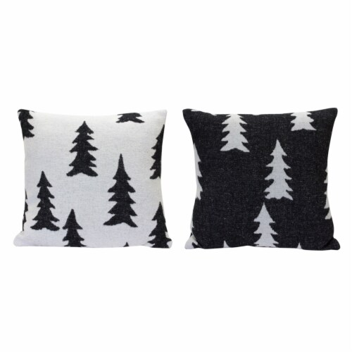Tree Pattern Pillow (Set of 2) 17  Polyester Perspective: front