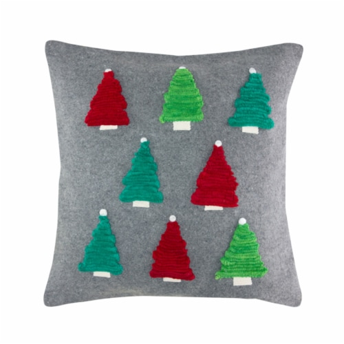 Pillow with Trees 17.5  Polyester Perspective: front