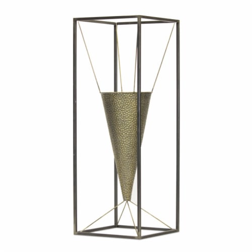 Cone Vase Planter 10.5  x 29.5 H Iron Perspective: front