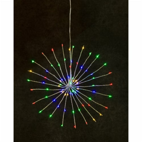 LED Starburst Light w/Remote/Synchronize To Music 16 D 75 Lights (Set of 2) Perspective: front
