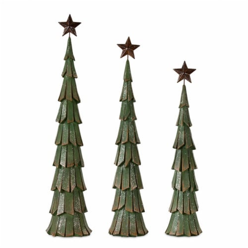 Tree (Set of 3) 18.5 H, 21 H, 23 H Resin Perspective: front
