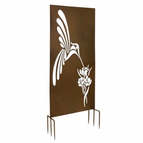 Hummingbird Privacy Screen (Set of 2) 24.75 L x 66 H Metal Perspective: front