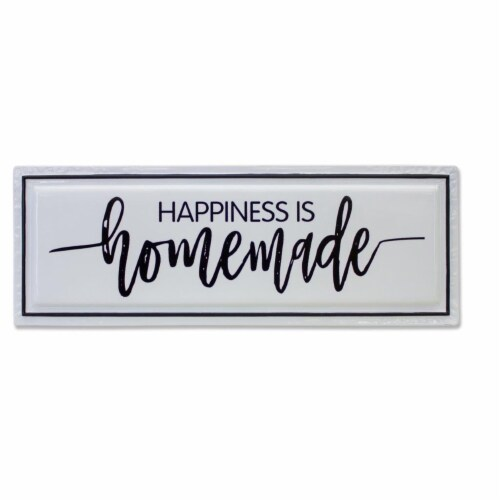 Happiness is Homemade Sign (Set of 2) 24.5 L x 8.75 H Iron Perspective: front