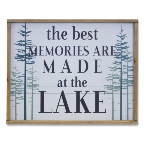 Lake Plaque 23.5 L x 19 H MDF/Wood Perspective: front