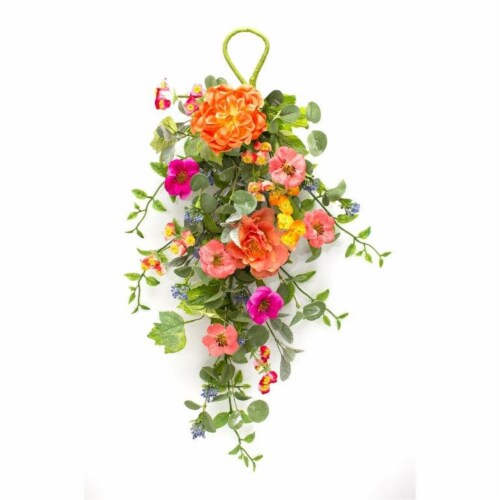 Mixed Floral Wall Swag (Set of 2) 28.5 L Polyester Perspective: front