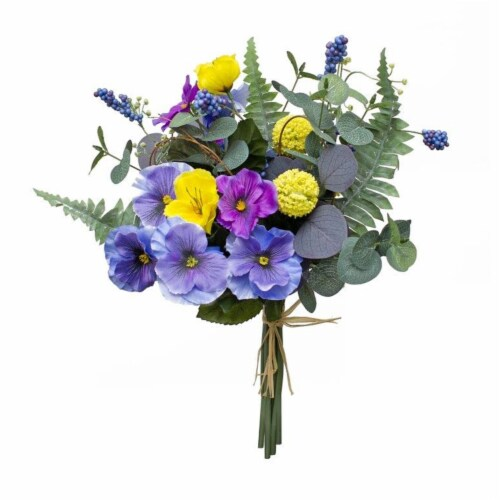 Pansy Bouquet (Set of 6) 15 H Polyester Perspective: front