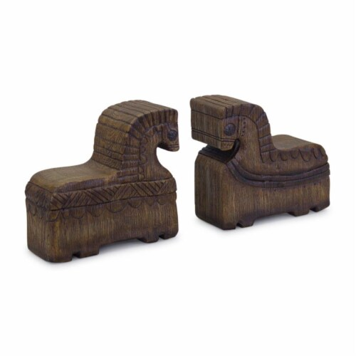 Horse Bookend (Set of 2) 7 L x 6.75 H Resin Perspective: front