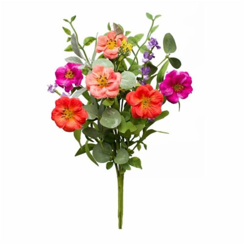 Mixed Bouquet (Set of 12) 15 H Polyester/EVA Perspective: front