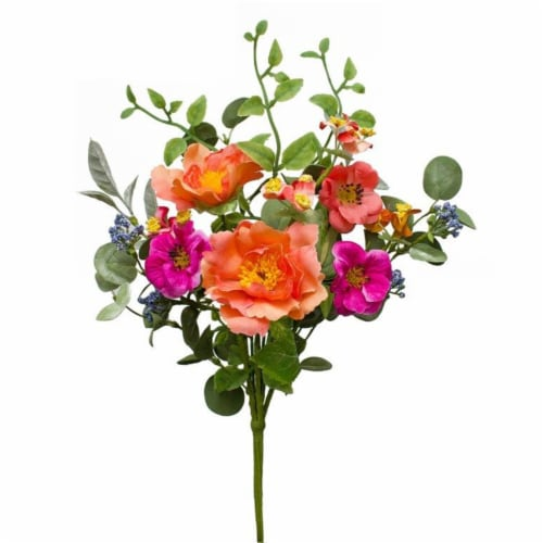 Floral Bouquet (Set of 12) 16.5 H Polyester/EVA Perspective: front