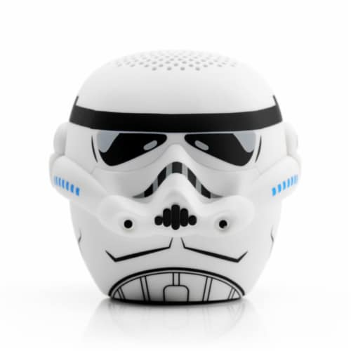 Bitty Boomers Storm Trooper Wireless Bluetooth Speaker - White Perspective: front