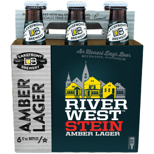 Lakefront Brewery Riverwest Stein Amber Lager Perspective: front