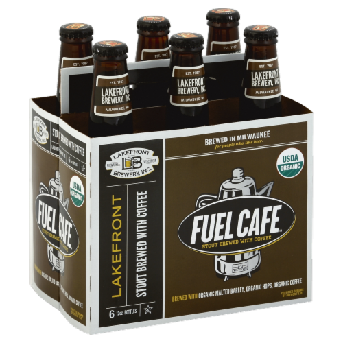 Lakefront Organic Fuel Cafe Stout Perspective: front