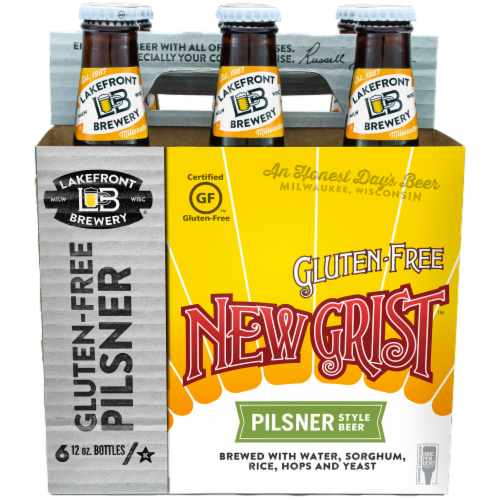 Lakefront Brewery New Grist Pilsner Style Beer Perspective: front