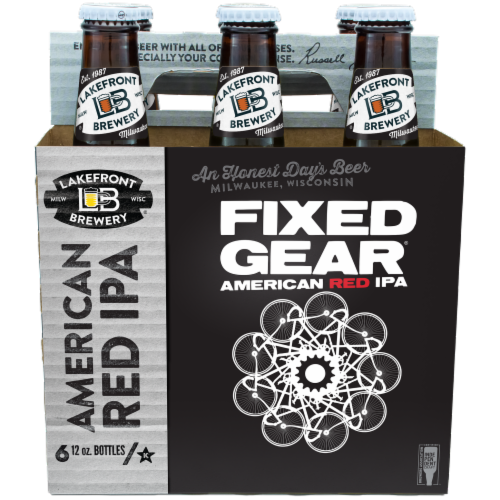 Lakefront Brewery Fixed Gear American Red IPA Perspective: front