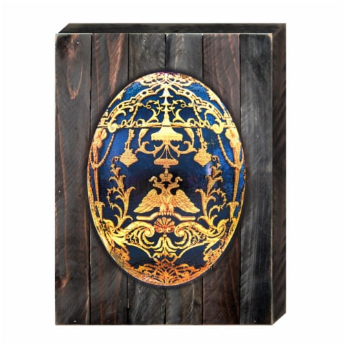 Designocracy 98720-18 Faberge Egg Art on Board Wall Decor Perspective: front