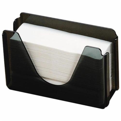 Countertop Plastic Towel Dispenser - Smoke Perspective: front