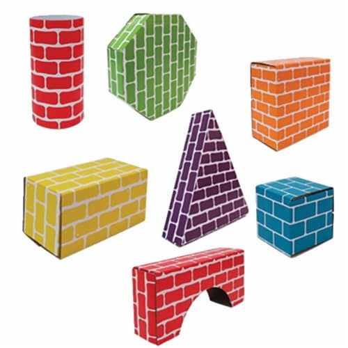 Corrugated Blocks & Shapes - Set of 45 Perspective: front