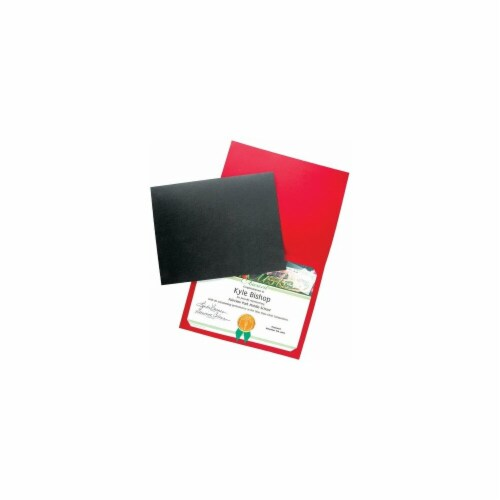 Blank Award Cover - Linen, Red - Pack of 25 Perspective: front