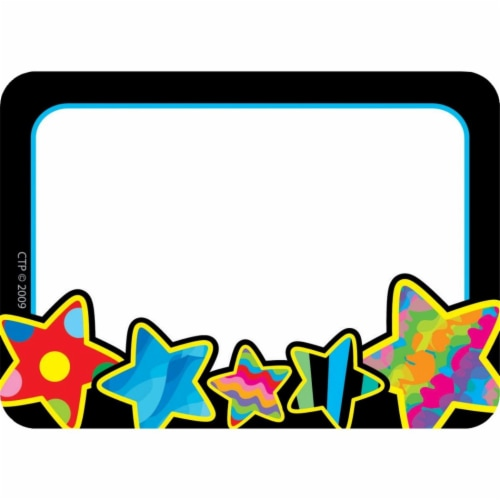 Poppin Patterns Stars Labels Perspective: front