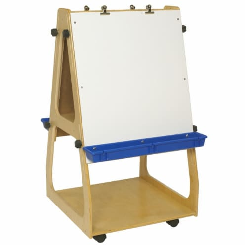43.62 x 24 x 24 in. Adjustable Mobile Art Easel Perspective: front