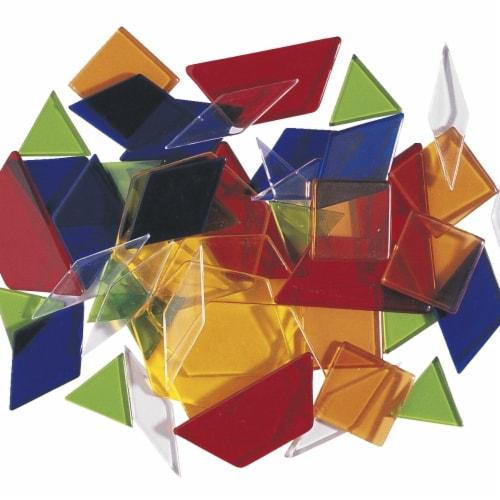 Transparent Pattern Blocks, Set of 49 Perspective: front