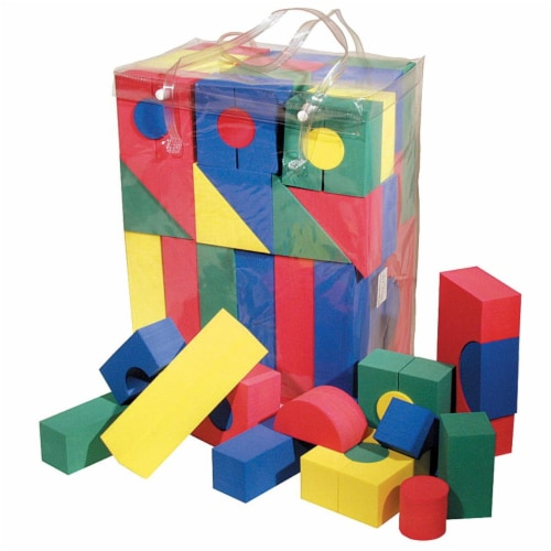 Non-Toxic WonderFoam Block, Assorted Size, Assorted Color, Pack 40 Perspective: front