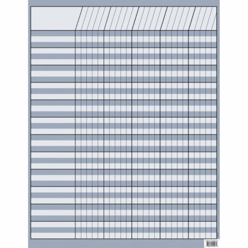 Press Incentive Chart, 17 x 22 in. - Slate Gray Perspective: front