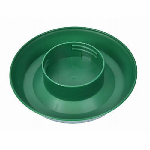Screw-On Poultry Watering Base for Quart Jar, Green Perspective: front