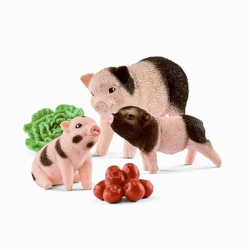 Miniature Pig Mother & Piglets Toy for Ages 3 & Up - Brown Perspective: front